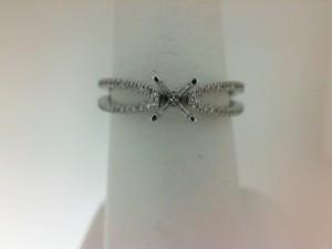 Natalie K:  14 Karat White Gold Semi-Mount Ring With .25Tw Round Diamonds Serial #: 501615