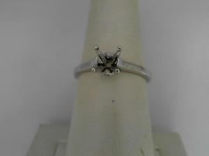Natalie K 18 Karat White Gold Cathedral Ring With 2=0.01Tw Round Diamonds