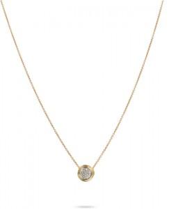 Marco Bicego: 18 Karat Yellow/White Gold  Delicati Pendant With 0.15Tw Round Diamonds  Length:18