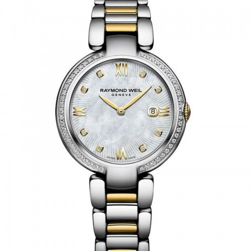 Stainless Steel And Yellow Quartz Watch