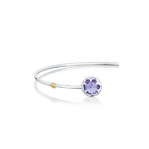 Tacori: 18K/925 Sterling Silver Bracelet With 2.54Ct Rose Cut Amethyst Style Name: Sonoma Skies- Amethyst