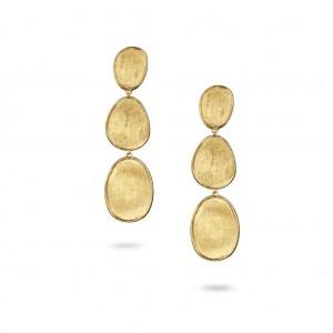 Marco Bicego: 18 Karat Yellow Gold  Lunaria Triple Drop Earrings