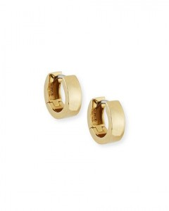 Roberto Coin 18 Karat Yellow Gold Huggie Earrings Name: Small Hoop 3.5 mm