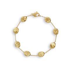 Marco Bicego: 18 Karat Yellow Gold  Siviglia Station Bracelet Length: 7.5