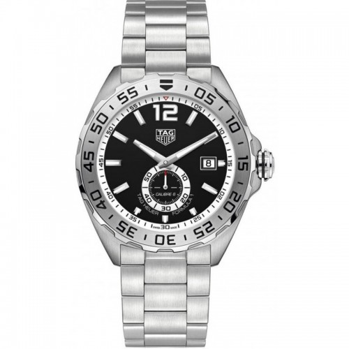 TagHeuer: Stainless Steel 43mm Formula 1 Automatic Watch Clasp: Deployment Dial Color: Black Bezel: unidirectional