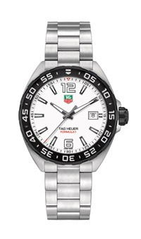 Tag Heuer: Stainless Steel 41mm Formula 1 Quartz Watch Clasp: Deployment Finish: Satin Dial Color: White Dial