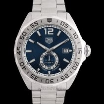 Tag Heuer:Stainless Steel 43mm Formula 1 Automatic Calibre, Rapid Date Correction Watch Clasp: Brushed Steel Folding Clasp With Double Safety System With Diving Extension; Tag Heuer Shield Finish: Satin And Polish Dial Color: Blue Bezel: Steel Alterna