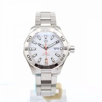 Tag Heuer: Stainless Steel 43mm Aquaracer Automatic Watch Clasp: Deployment Buckle Finish: Brushed Dial Color: White