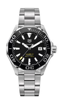 Tag Heuer: Stainless Steel Automatic Watch Name: Aquaracer Clasp: Deployment Finish: Satin Dial Color: Black Dial Bezel: Black Ceramic Bezel MM: 43mm  Serial # RTL0517
