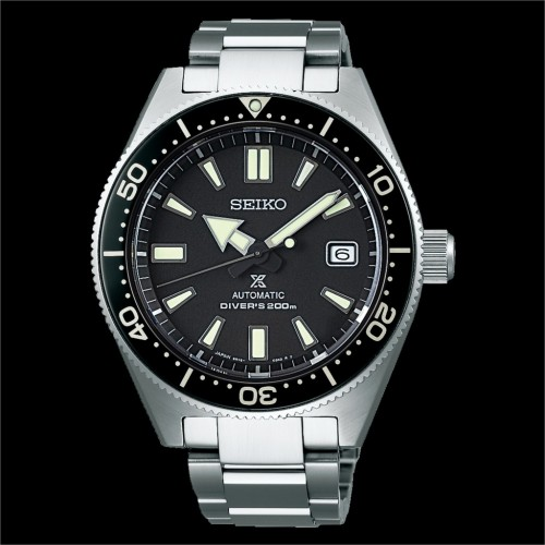 Seiko Luxe: Prospex Stainless Steel Automatic With Manual Winding Capacity Watch Case Material: Stainless steel (super hard coating)  Clasp: Three-Fold Clasp With Secure Lock , Push Button Release With Extender Dial Color: Black With Lumibrite On Hands
