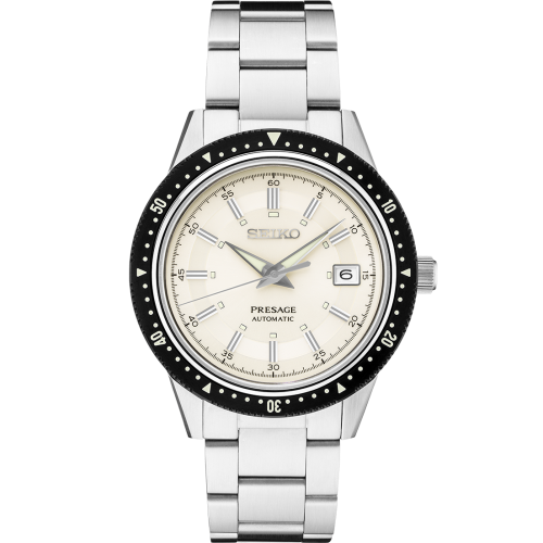 Seiko Luxe: Presage Limited Edition Stainless Steel Automatic With Manual And Hand Winding Capabilities Watch Clasp: Tri-Fold Push Button Release Clasp Dial Color: Ivory Dial With Sunray Finish With LumiBrite Hands And Markers Sapphire Crystal With Ant