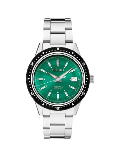 Seiko Luxe: Presage Limited Edition Stainless Steel Automatic With Manual And Hand Winding Capabilities Watch Clasp: Tri-Fold Push Button Release Clasp Finish: Satin And Polish Dial Color: Emerald Green Dial With Sunray Finish Lumibrite Hands And Marke