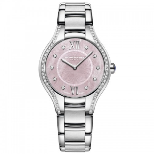 Stainless Steel Quartz Watch With 62=0.35Tw Round Diamonds