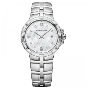 Stainless Steel Quartz Watch With 8=0.03Tw Round D/E Si1-2 Diamonds