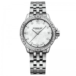 Stainless Steel Quartz Watch With 44=0.19Tw Round E/F Si1-2 Diamonds