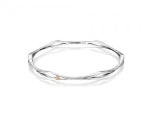 Tacori: Sterling Silver Ivy Lane Diamond Shape Bangle Bracelet