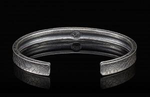 William Henry Sterling Silver Core Bangle Bracelet Length: Lg