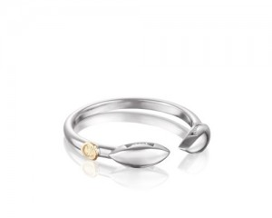 Tacori: Sterling Silver Ivy Lane Marquise Ring Size 7
