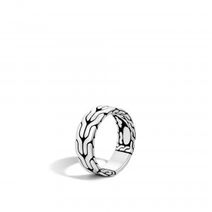 John Hardy: Sterling Silver  8mm Classic Chain Band Ring Size 10
