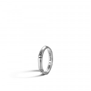 John Hardy: Sterling Silver Bamboo 3mm Band Ring Size 7