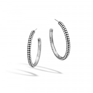 John Hardy: Sterling Silver Dot Small Hoop Earrings