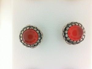 Sterling Silver Earrings Carnelian / No Orders