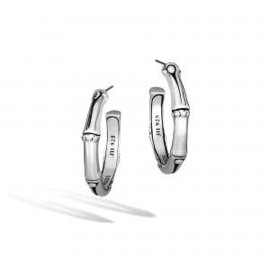 John Hardy Sterling Silver Bamboo Small Hoop Earrings