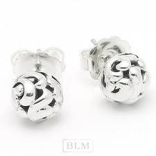 Charles Krypell Sterling Silver  9mm  Ivy Love Stud Earrings