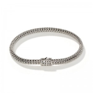 Classic Chain Silver Extra-Small Bracelet, Size M