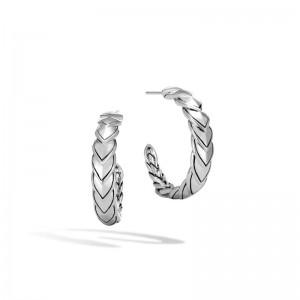 Naga Small Hoop Earring in Silver