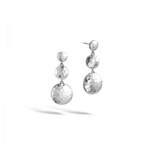 Womens Palu Silver Triple Drop Linear Earrings