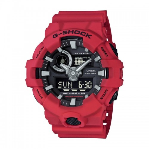 G Shock Digital Multi Function Watch Red Resin