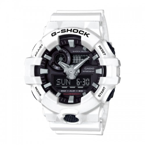 G Shock Digital Multi Function Watch White Resin