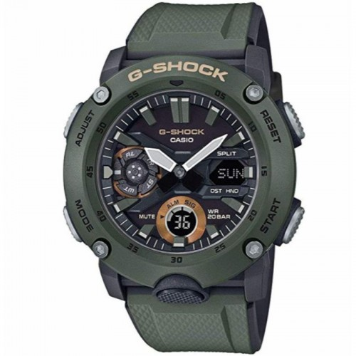 G Shock Digital Multi Function Watch Resin Green