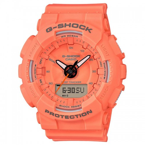 G Shock Watch Ad Step Tracker Resin Orange
