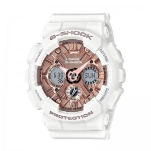 G-Shock Watch S Series/ Step Tracker Metallic 3D Dial White Resin