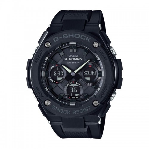 G Shock/ T Solar Digital Multi Function Watch Black Resin