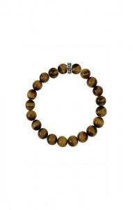 King Baby: Sterling Silver Bracelet Name: Men S 10Mm Blue Tiger Eye Bead Bracelet