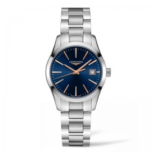 Conquest Classic 34mm Blue Dial Stainless Steel