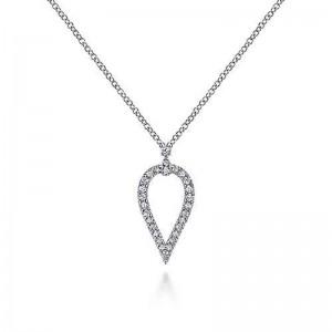 White 14 Karat Necklace With 0.19Tw Round Diamonds