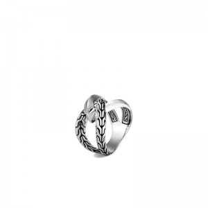 Classic Chain Silver Knife Edge Ring