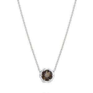 Crescent Station Necklace featuring Cognac Quartz