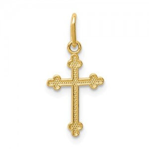 14 Karat Religious Charm Pendant Charm Type: Budded Cross