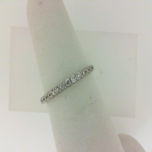 Insignia 18K White Gold Diamond Wedding Band .20cttw