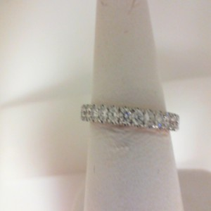 White/Rose 14 Karat Prong Set Wedding Band With 24=0.85Tw Round Diamonds  Name Tradition  Ring Size 6.5