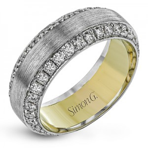 White/Yellow 14 Karat Eternity Wedding Band With 66=1.90Tw Round F/G Vs2 Diamonds  Serial #: 593186  Ring Size: 10.5