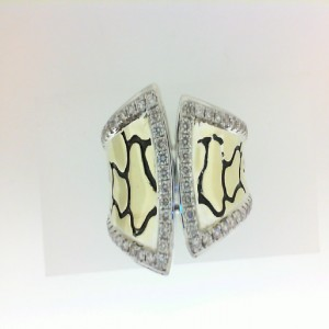 Sterling Silver & 18Ky Fashion Ring With 62=0.60Tw Round K/L Si3-I1 Diamonds Name/Details: Python Tuxedo Ring