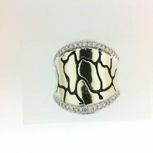 Sterling Silver & 18Ky Fashion Ring With 44=0.40Tw Round K/L Si3-I1 Diamonds Name/Details: Saddle Python Ring Ring Size: 6.5