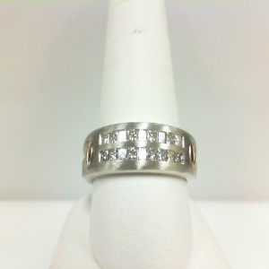 Two-Tone 14 Karat Ring With 18=0.85Tw Princess G Si1 Diamonds  Ring Size
