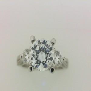Natalie K: White 18 Karat Ring Size 6.5 With 2=0.40Tw Round Diamonds And 78=0.32Tw Round Diamonds